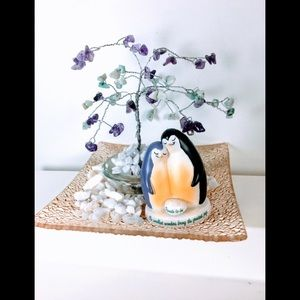 Gemstone Tree Penguin Parents to be centerpiece